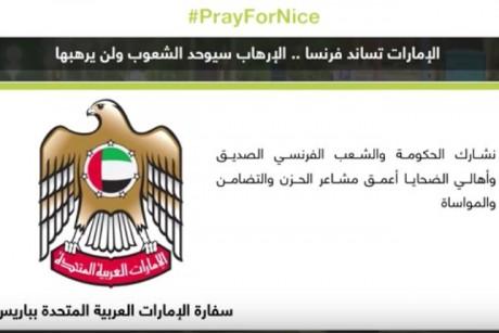 الإمارات تساند فرنسا.. الإرهاب سيوحد الشعوب ولن يرهبها