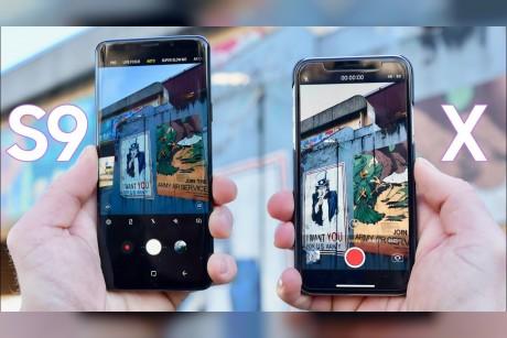 فيديو جديد يستعرض لنا مقارنة بين كاميرا +Galaxy S9 و iPhone X