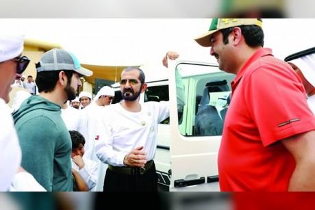 محمد بن راشد يشهد إنجاز «M7» بلقب كأس ولي عهد دبي للقدرة في سيح السلم