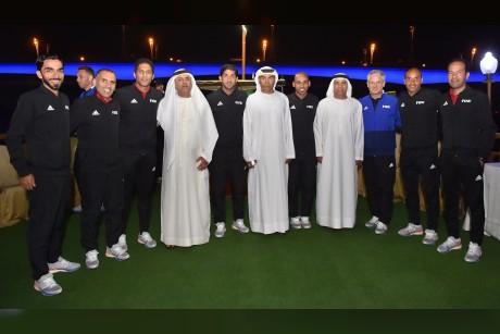اتحاد الكرة يحتفي بقضاة ملاعب المونديال بمأدبة عشاء في دبي
