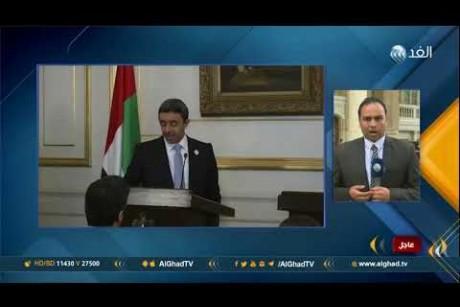 مراسل الغد: فلسطين وقضايا الوطن العربي تتصدر مباحثات وزيرا خارجية الإمارات ومصر