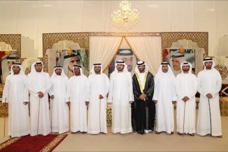 مكتوم بن محمد بن راشد يحضر أفراح العامري