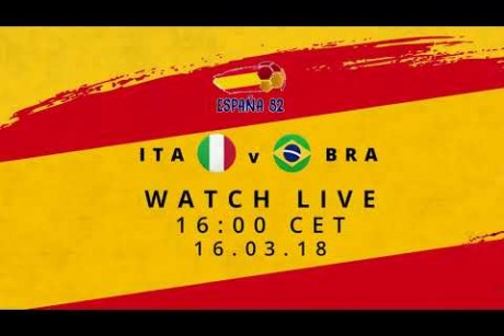 FIFA WORLD CUP™ REWIND - LIVE TODAY 4PM CET - ITALY V BRAZIL 1982