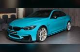 BMW M4 كوبيه بلون أزرق ميامي تظهر في أبوظبي