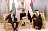 منصور بن زايد يبحث التعاون مع رئيسي تركمانستان وأرض الصومال