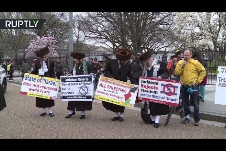 USA Rabbis join protesters outside White House over Palestine ki