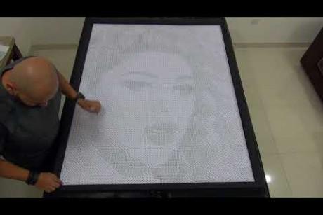 Unbelievable Myriam Fares Dice Mosaic 2 لن تصدقوا !! صورة ميريام فارس مصنوعة من النرد