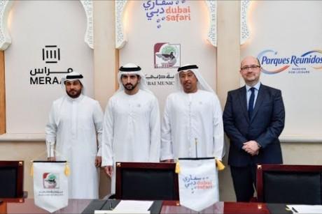 بحضور ولي عهد دبي.. مِراس توقع اتفاقية مع بلدية دبي لإدارة سفاري دبي