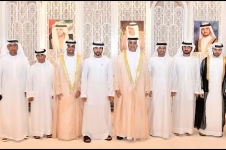 حمدان ومكتوم بن محمد يحضران أفراح الغرير في دبي