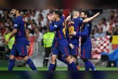 كأس اسبانيا: خماسية لبرشلونة ضد اشبيلية تمنحه لقبا رابعا على التوالي