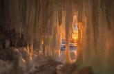 صور مذهلة لانحسار كهوف الجليد بفعل الشمس