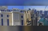 فيديو  مغامر يعبر أطول حبل تزلج في دبي بيديه العاريتين
