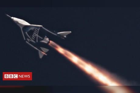 Virgin boss Sir Richard Branson readies himself for space