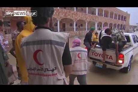 طاقم سكاي نيوز عربية ينقل لكم جهود الإغاثة لأهالي جزيرة سقطرى