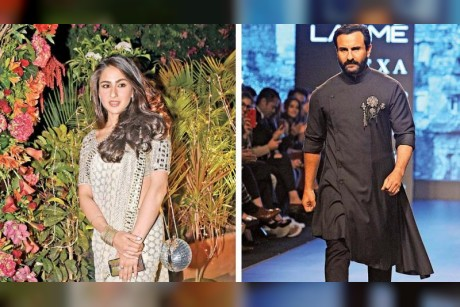 Saif Ali Khan steps in for Sara's safe launch