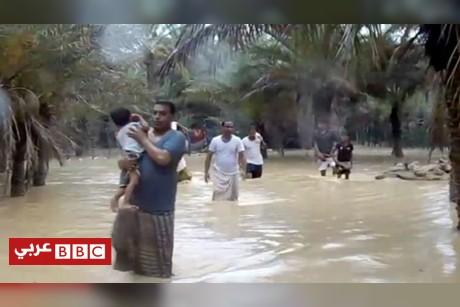إعصار مكونو في اتجاه السعودية بعد اليمن وعمان