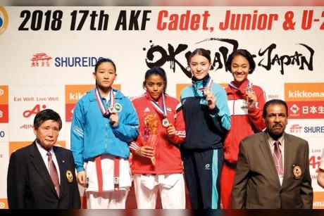 فاطمة خصيف.. أول لاعبة كاراتيه إماراتية تصل إلى أولمبياد الشباب