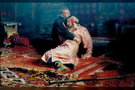 ثمل يهشم لوحة «إيفان الرهيب» الشهيرة