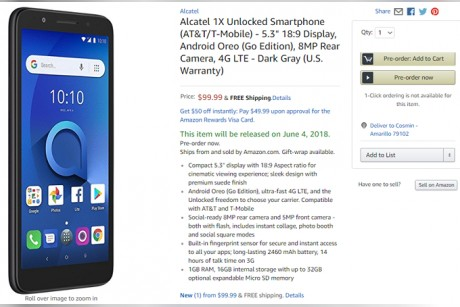 Alcatel 1X with Android Go is now available in the US - Dotemirates