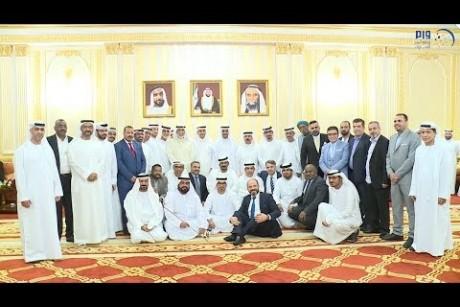 حاكم الفجيرة يلتقي رؤساء ومديري وممثلي المؤسسات الإعلامية في الدولة