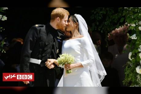بالصور: كلام عن الحب وقبلات في زفاف هاري وماركل الملكي