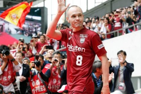 Thousands turn out as Barcelona great Andres Iniesta is unveiled atVissel Kobe - in pictures