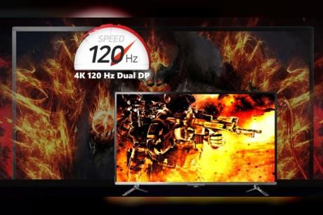 توفر أول شاشة بالعالم بحجم 43 بوصة تدعم 4K/120Hz/HDR وبسعر 1400 دولار فقط!