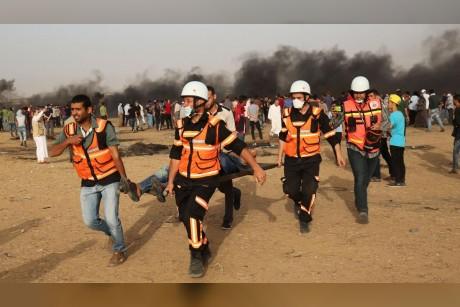Dozens of Palestinians injured by Israeli gunfire, tear gas in Gaza border protests
