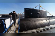 غواصة نووية روسية للمهام الخاصة تخضع للاختبارات المائية