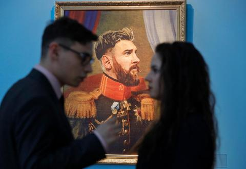 Hit or miss? World Cup stars Salah, Pogba and Messi painted as historical leaders - in pictures - Dotemirates