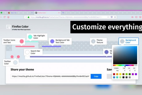 Firefox is testing features that let you customize colors and