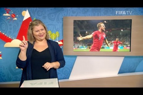 FIFA WC 2018 - TUN vs. ENG – for Deaf and Hard of Hearing - International Sign