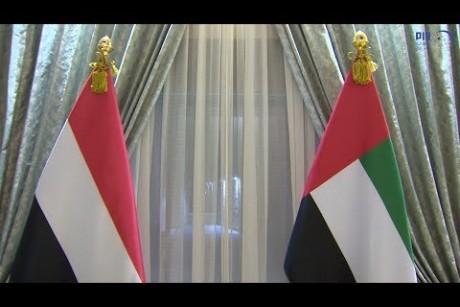 محمد بن زايد يستقبل الرئيس اليمني