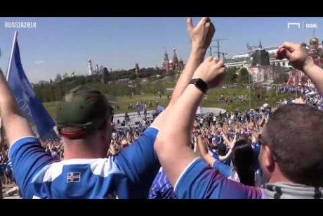 World Cup 2018: Iceland fans sing their way to Moscow