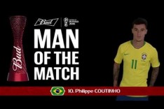 Philippe COUTINHO (BRA) - Man of the Match - MATCH 9
