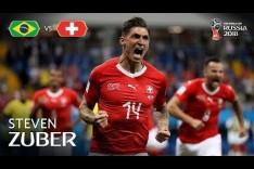Steven ZUBER Goal - Brazil v Switzerland - MATCH 9