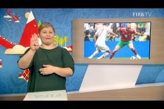 FIFA WC 2018 - POR vs. MAR – for Deaf and Hard of Hearing - International Sign