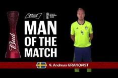 Andreas Granqvist (Sweden) - Man of the Match - MATCH 12