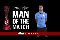 Luis SUAREZ (Uruguay) - Man of the Match - MATCH 18
