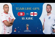 LINEUPS – TUNISIA v ENGLAND - MATCH 13 @ 2018 FIFA World Cup™