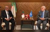 غسان سلامة يبحث مع مساهل مراحل تنفيذ خارطة الطريق الأممية في ليبيا