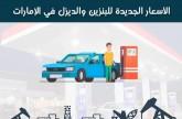 إنفوجراف.. تطور أسعار الوقود في الإمارات خلال عام