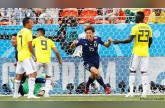 Japan topple 10-man Colombia in Group H upset