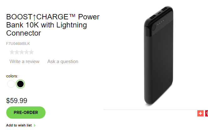 One cable for all! Belkin's 10K Boost Charge power bank is