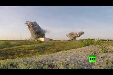 الولايات المتحدة.. تدمير منصة إطلاق صواريخ الفضاء في كيب كانافيرال