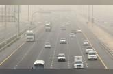 تدني الرؤية بسبب الغبار في الإمارات اليوم