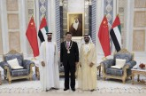 VP, His Highness Sheikh Mohamed bin Zayed receive President Xi at Presidential Palace.