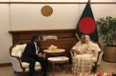 رئيسة وزراء بنجلاديش تستقبل سفير الدولة.