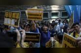 المئات يتظاهرون في هونغ كونغ ضد توجه لحظر حزب مؤيد للاستقلال