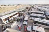 مئات المدنيين والمقاتلين يغادرون القنيطرة لشمال سوريا